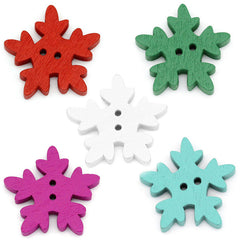 Snowflake buttons 25 mm|Boutons flocons 25 mm