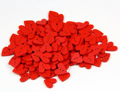 Red heart buttons|Boutons coeurs rouges