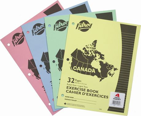 Cahiers d'exercices Canada 32 pages d'Hilroy|Cahiers d'exercices Canada 32 pages d'Hilroy