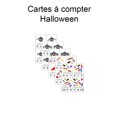 Digital download - Halloween counting cards|Fichier téléchargeable - Halloween cartes à compter