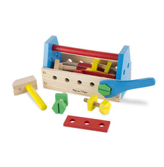 Take-along tool kit wooden toy|Coffre à outils en bois portatif
