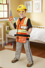 Construction Worker Costume Set - 3 to 6 Years|Costume de travailleur de chantier - 3 à 6 ans