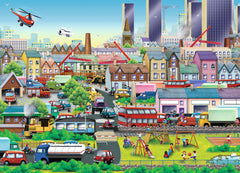 Puzzle 60 pieces - Busy Neighborhood|Casse-tête 60 pièces - En ville