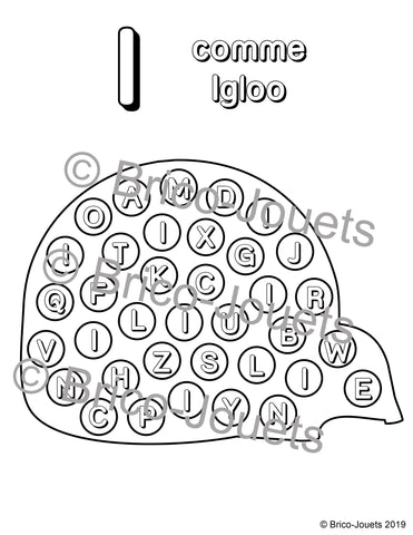 Digital download - I comme igloo|Fichier téléchargeable - I comme igloo