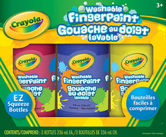 3 Washable Fingerpaints|Ensemble de 3 gouaches au doigt lavables
