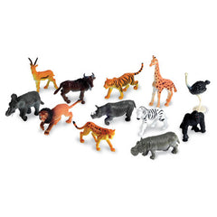 Set of 12 Realistic Jungle Animal Counters|Ensemble de 12 animaux de la jungle réalistes à trier et compter