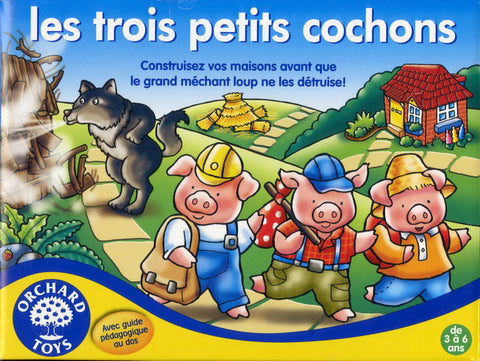 Three Little Pigs Board Game|Les trois petits cochons Orchard toys