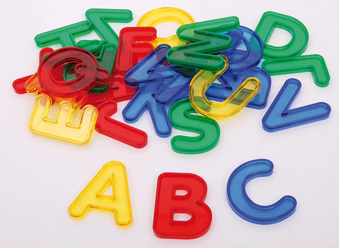 Translucent letters|Ensemble de lettres translucides colorées