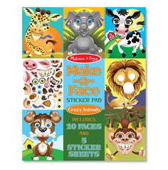 Make-A-Face crazy animals sticker pad|Tablette d'autocollants - crée un visage d'animal