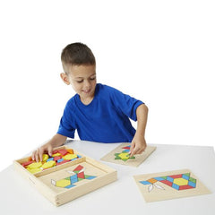 Pattern Blocks and Boards|Ensemble de blocs à motifs en bois