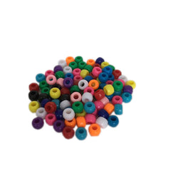 100 multi-colored beads 9 mm X 6 mm|100 perles multicolores 9 mm X 6 mm