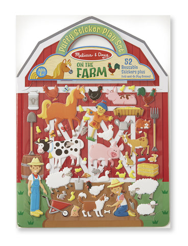 Reusable puffy stickers - farm|Autocollants en relief repositionnables - ferme