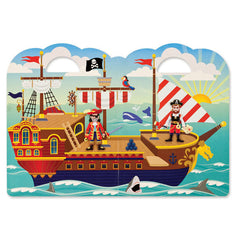 Reusable puffy stickers - pirates|Autocollants en relief repositionnables – pirates