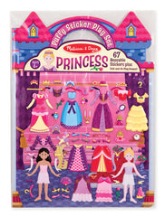 Reusable puffy stickers - princess|Autocollants en relief repositionnables - princesses
