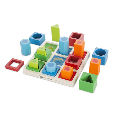 Shape Sequence Sorting Set|Blocs de formes et couleurs à emboîter