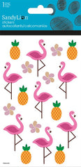 Flamingos stickers with glitter|Autocollants flamants roses avec brillants