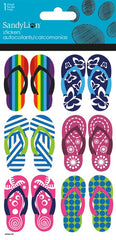 Flip Flops stickers with glitter|Autocollants sandales avec brillants