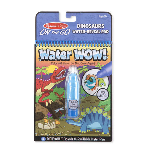 Water Wow! Dinosaurs - ON the GO Travel Activity|Cahier à colorier à l'eau Water Wow - Dinosaures