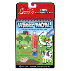 Water WOW! Farm - ON the GO Travel Activity|Cahier à colorier à l'eau Water Wow - Ferme