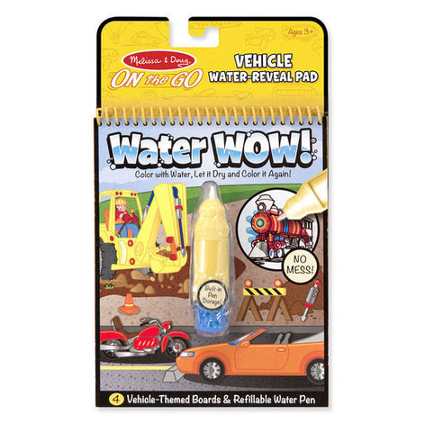 Water WOW! Vehicles - ON the GO Travel Activity|Cahier à colorier à l'eau Water Wow - Véhicules