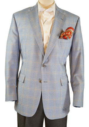 LIGHT BLUE WINDOW PANE SPORT COAT