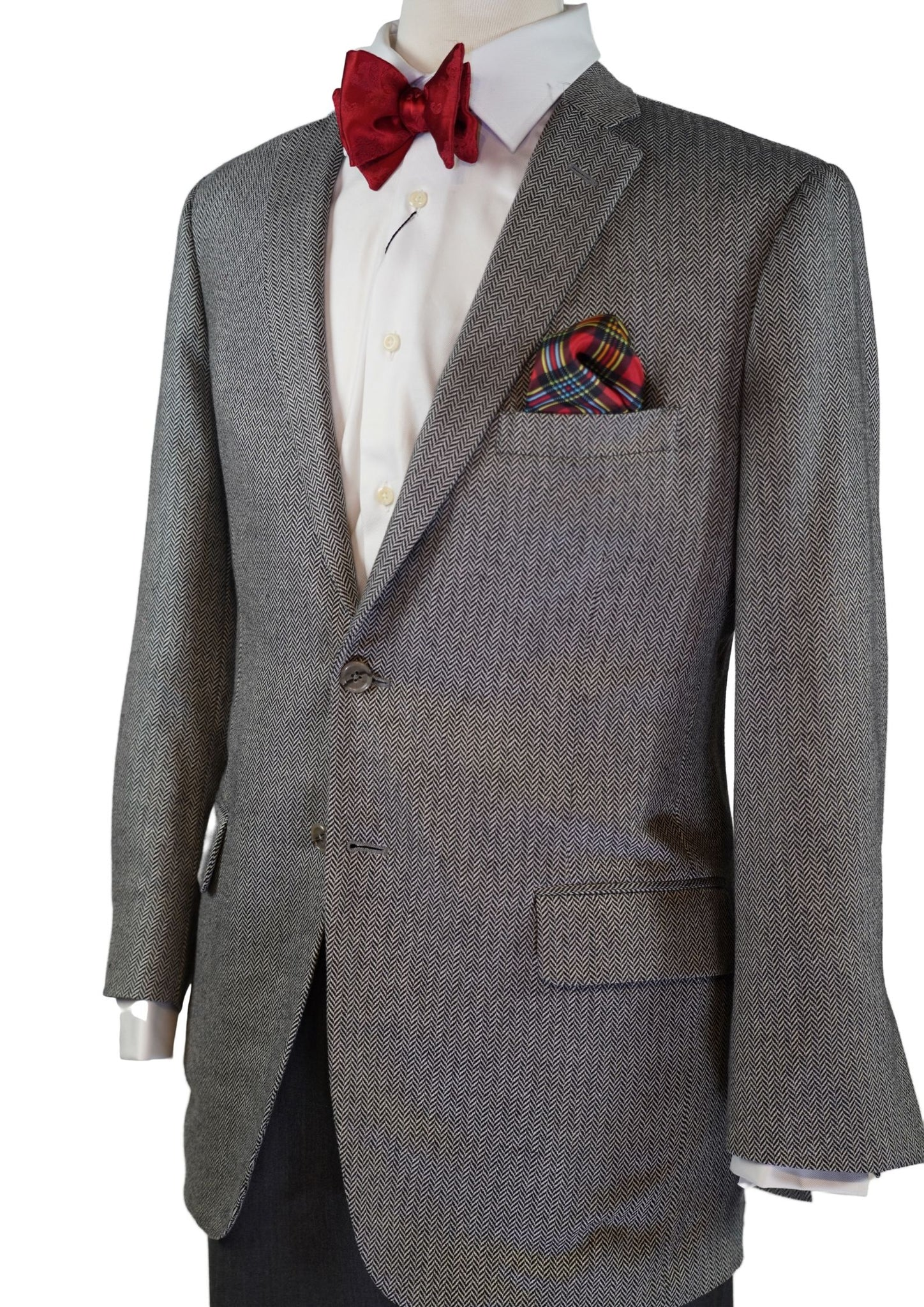 BLACK & WHITE HERRING BONE SPORT COAT