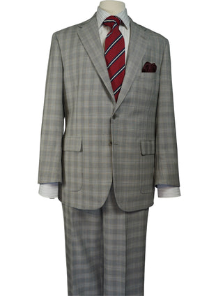 LIGHT GRAY PLAID SUIT