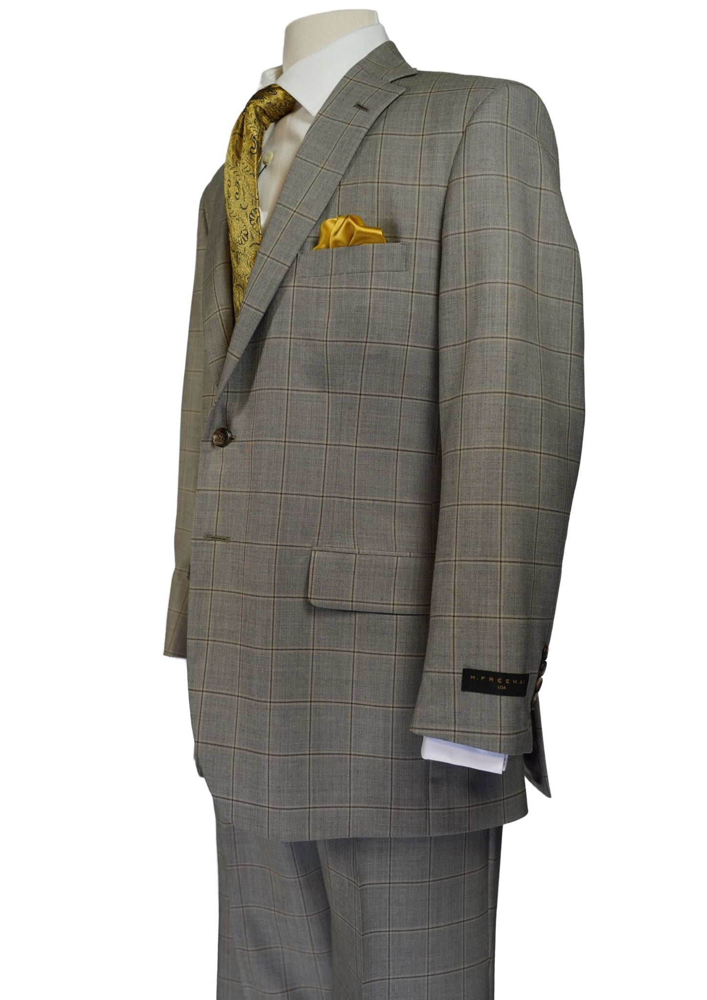TAN WINDOW PANE SUIT