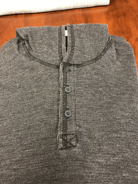 Black/gray hooded long sleeve shirt by Agave Denim
