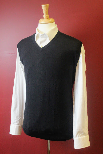 Black V-Neck Sweater Vest