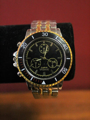 Rosra Black and Gold Watch