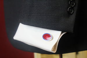 Codis Maya Red and Blue Cuff Links