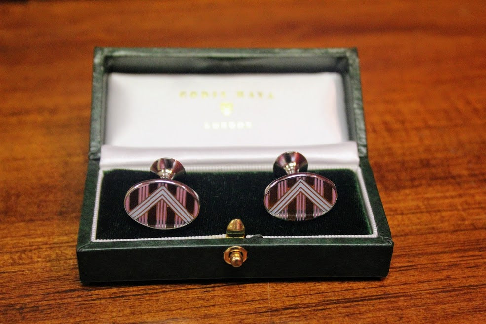 Codis Maya Chevron Cuff Links