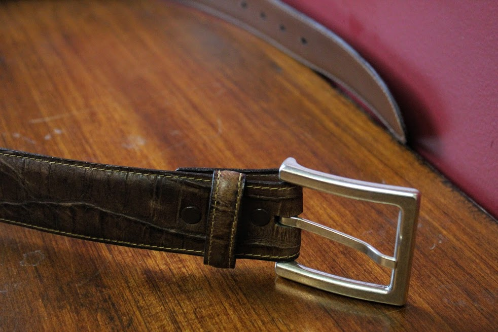 Cognac Brown Torino Leather Belt