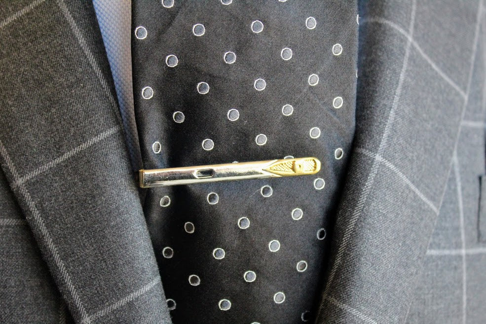 Stainless Steel and Brass Tie Clip