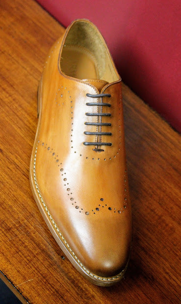 Cognac Perforated Armin Oehler Shoes