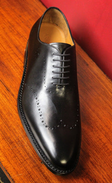 Black Perforated Armin Oehler Shoes