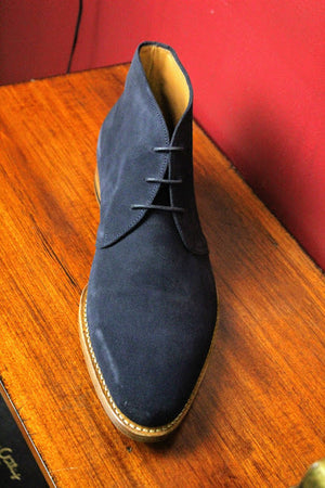 Blue Suede Armin Oehler Shoes