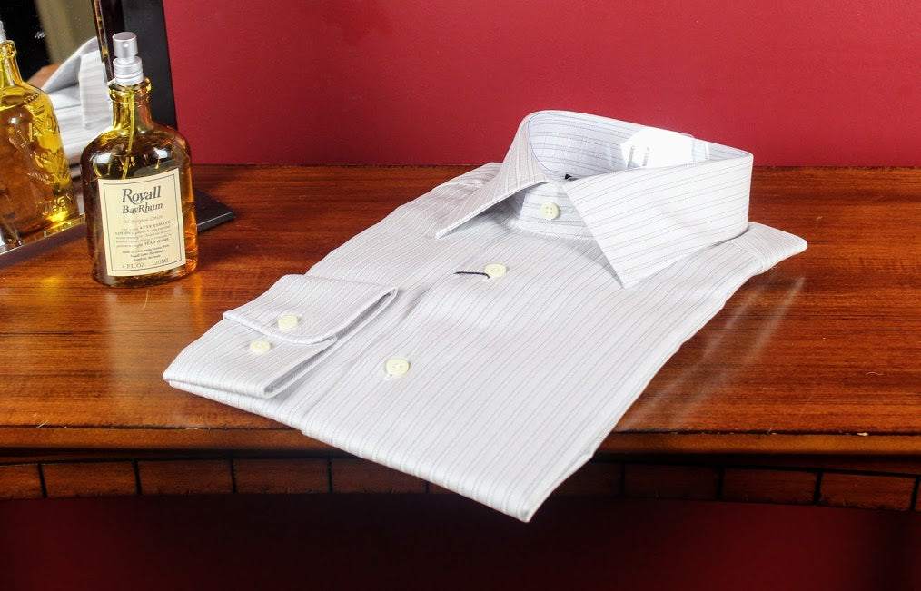 Herring Bone Striped David Donahue Shirt