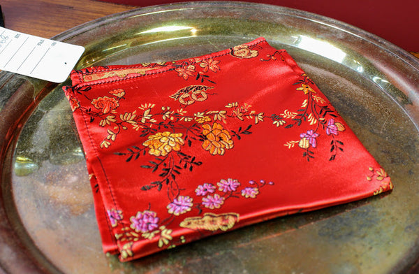 Embroidered Silk Pocket Square