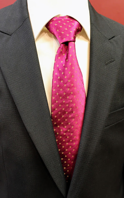 Pink Silk Carrot and Gibbs Neck Tie