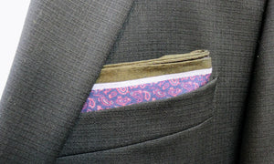 Red Paisley Carrot and Gibbs Pocket Square