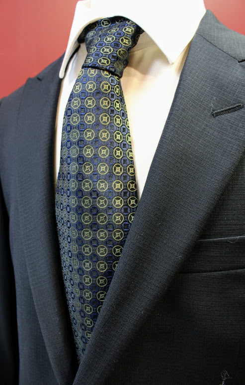 Henry Grethel Black and Gold Tie