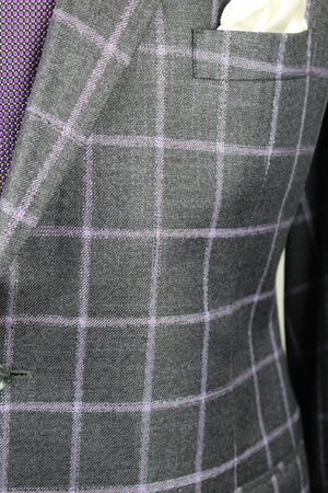 A Smith Clothiers Charcoal Sport Coat with Purple Accents