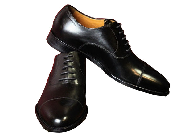 Black Cap Toe Armin Oehler Shoes