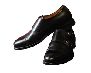 Black Double Monk Strap Armin Oehler Shoes