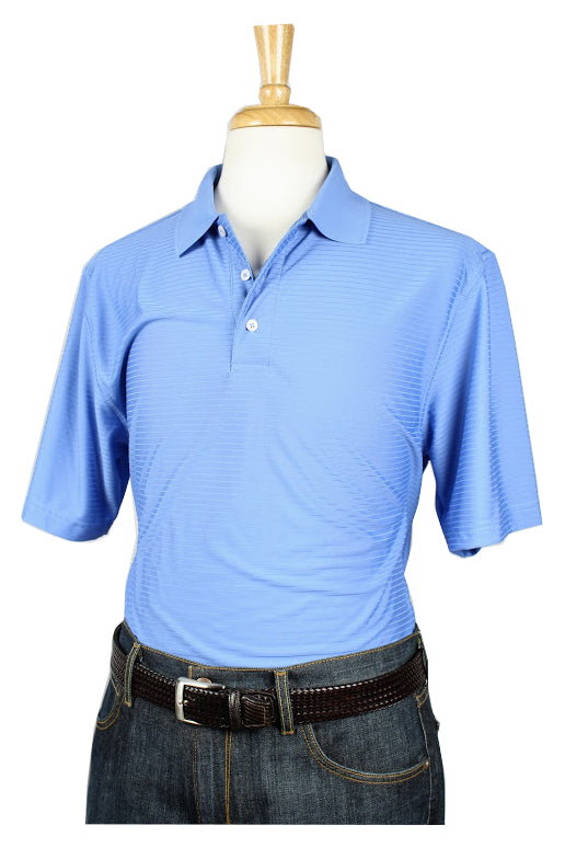Bullington Sky Blue Golf Shirt