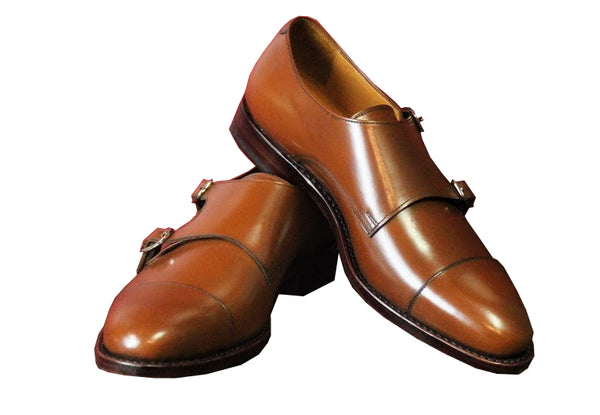 Brown Double Monk Strap Armin Oehler Shoes