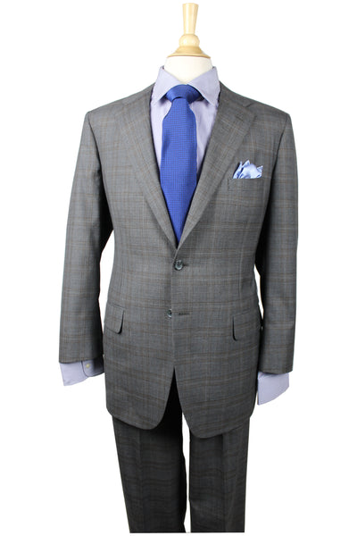 A Smith Clothiers Grey Accented Windowpane Suit
