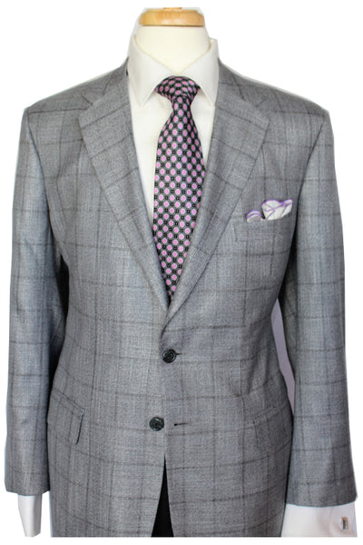 Silver Window Pane Bamboo Sport Coat